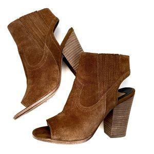| padma open toe heeled bootie |